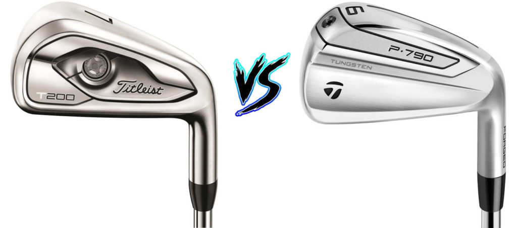Titleist_T200_Irons_vs_Taylormade_2019_P790_Irons