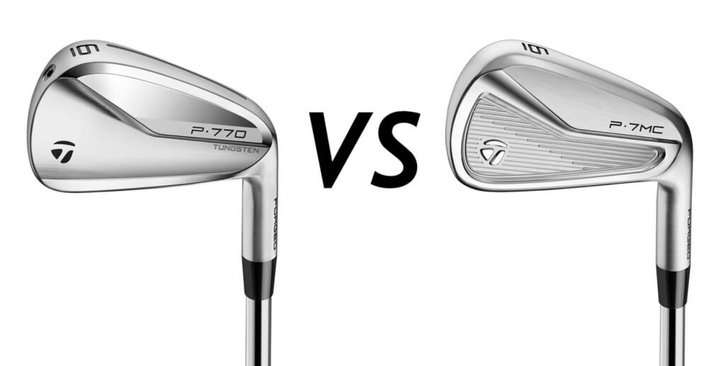 Taylormade P770 vs Taylormade P7MC - Irons Comparison