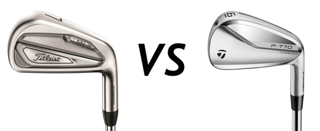Titleist T100 vs Taylormade P770 Irons Comparison